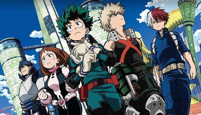 10 Animes de accion - Boku No Hero Academia