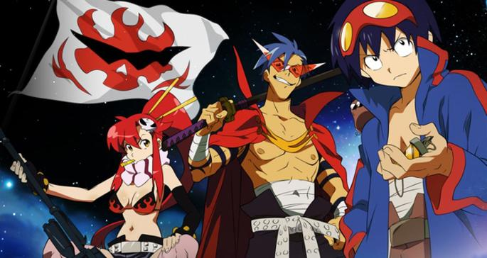 25 Animes de accion - Tengen Toppa Gurren Lagann