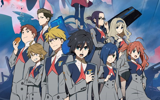 27 Animes de accion - Darling in the FranXX