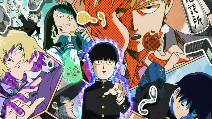 31 Animes de accion - Mob Psycho 100