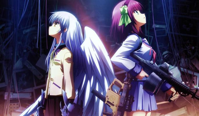35 Animes de accion - Angel Beats!