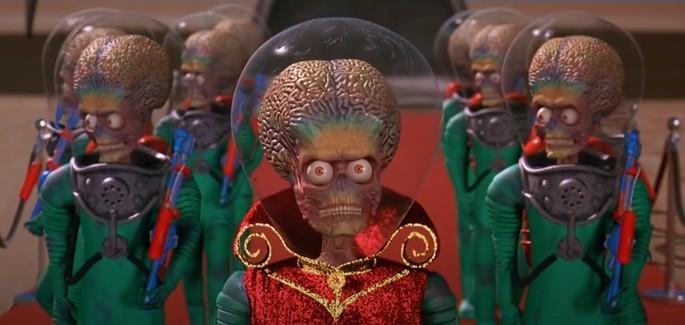 45 - Peliculas de extraterrestres - Mars Attack - Marcianos al ataque