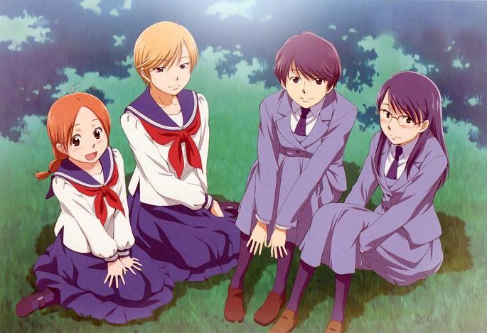 5 Aoi hana Anime Shoujo Ai