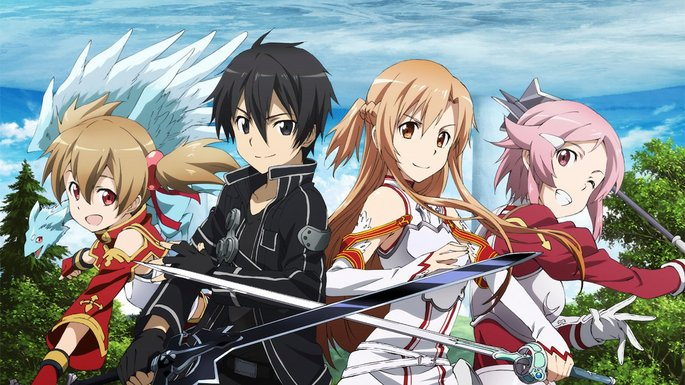 52 Animes de accion - Sword Art Online