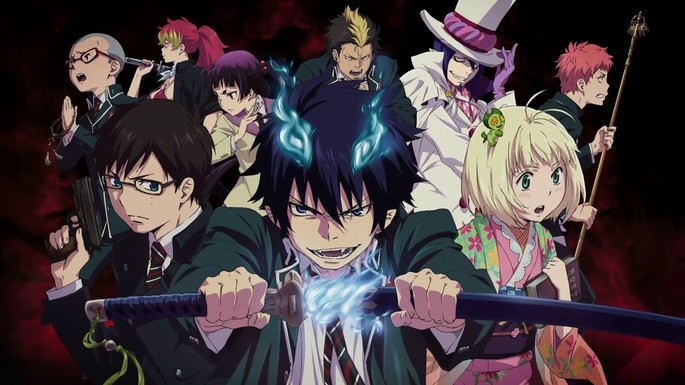 57 Animes de accion - Ao No Exorcist