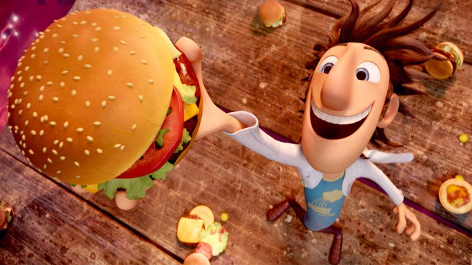 75 Peliculas animadas - Lluvia de hamburguesas
