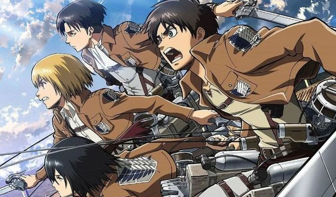 9 Animes accion -Shingeki No Kyojin