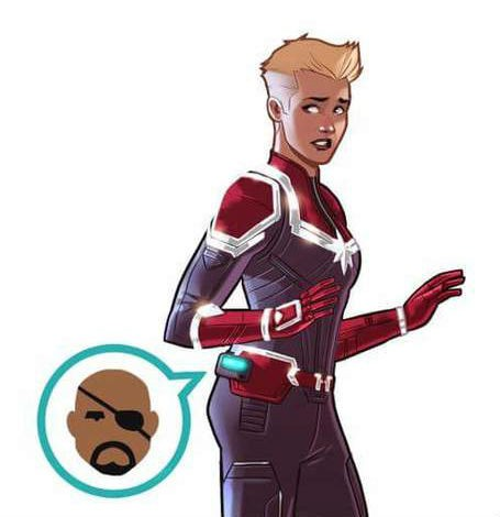 captain marvel nick fury infinity war