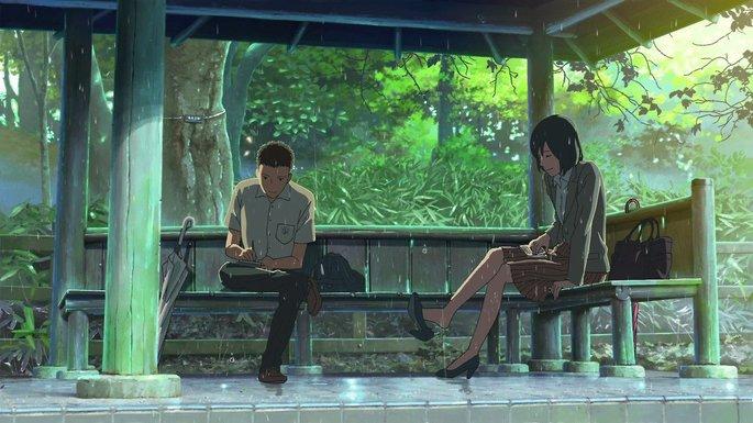 El jardín de las palabras Peliculas Anime
