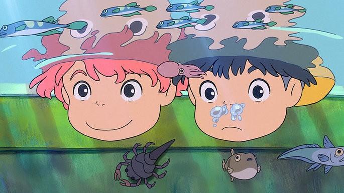 Ponyo películas ghibli netflix