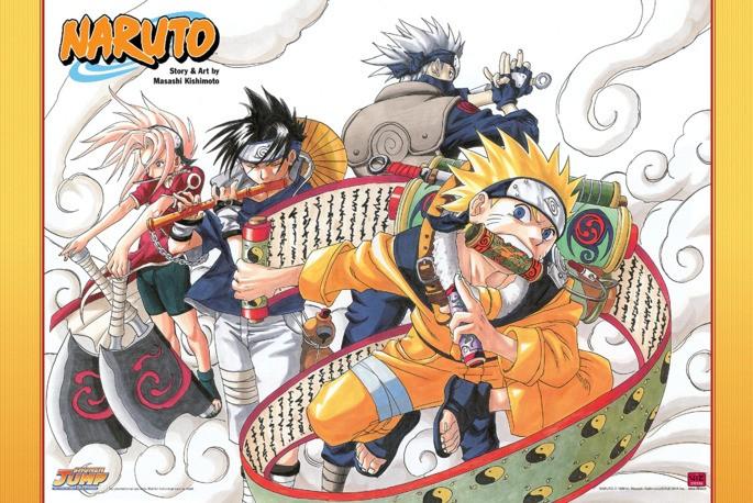 Naruto, de Masashi Kishimoto, otro exponente del manga moderno