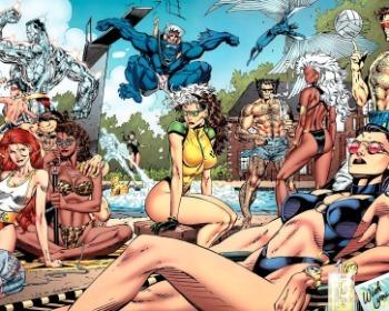 Del cómic a la piscina: las mejores imágenes de personajes de Marvel en traje de baño